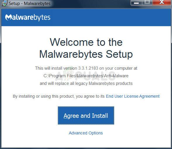 Malwarebytes installation process