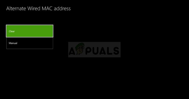 Clear Alternate MAC Address
