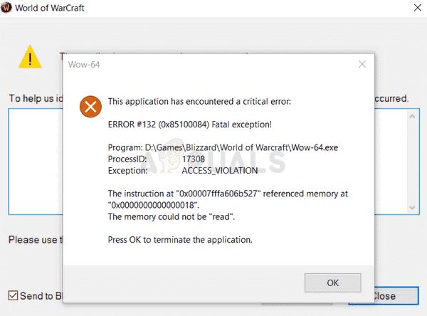 Wow-64.exe Application Error