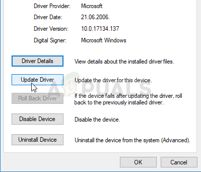 Updating or Uninstalling Driver