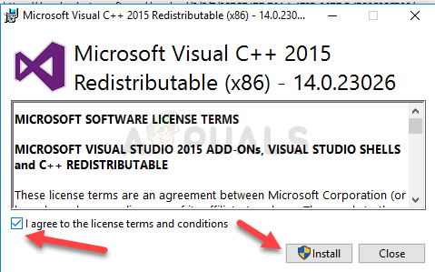 Visual C++ Redistributable Installation