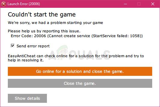(1058) ERROR_SERVICE_DISABLED
