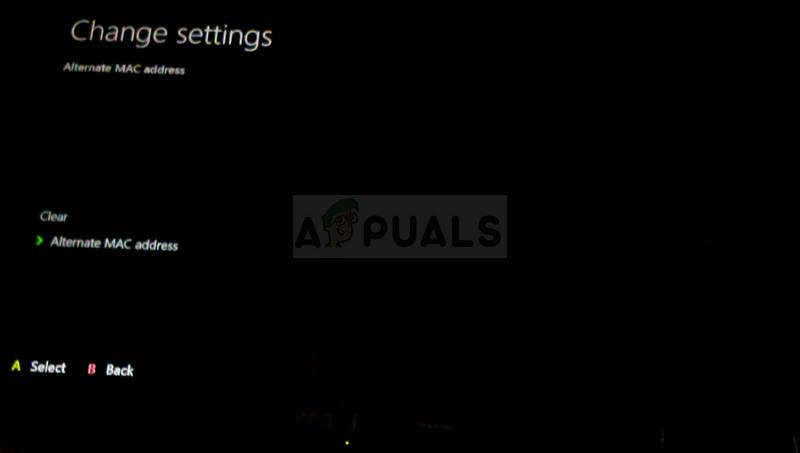 Clearing the Alternate MAC Address on Xbox One