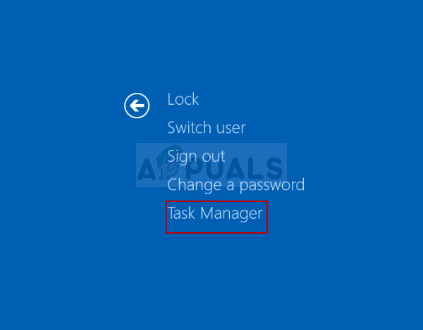 Opening Task Manager