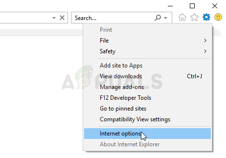 Internet options in Internet Explorer