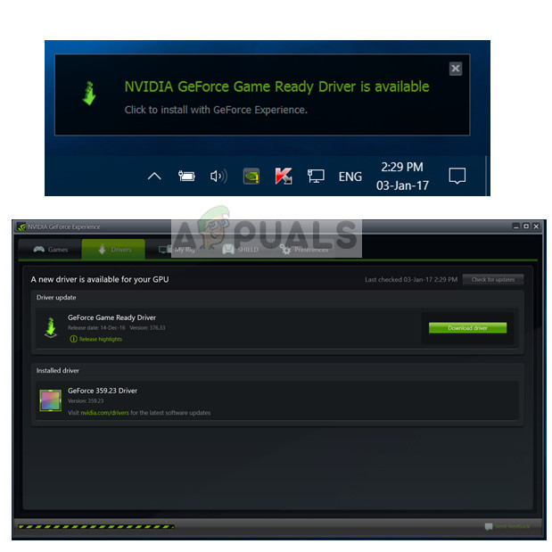 Updating drivers - GeForce Experience