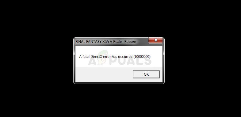 Fix: FFXIV 'Final Fantasy XIV' Fatal DirectX Error - Appuals com