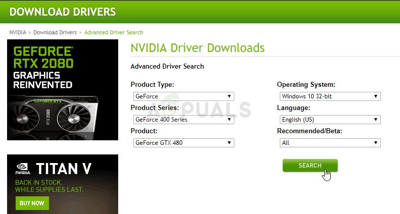NVIDIA Driver Search