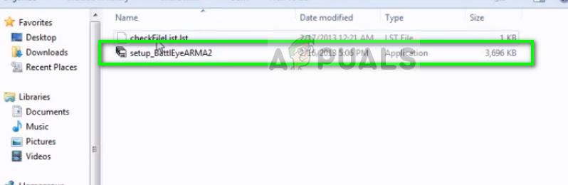 Running setup_BattlEyeARMA2 on Windows 10