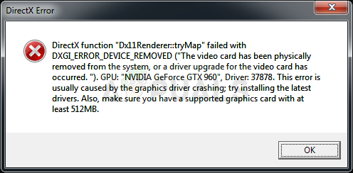 Mass Effect Andromeda DirectX Error