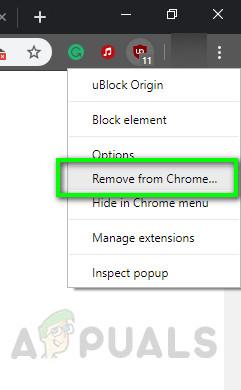 Removing Ublock from Chrome