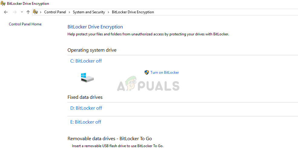 Disable File Encryption
