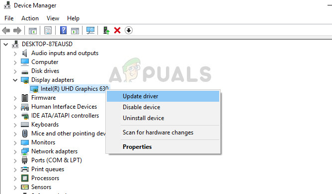 Update driver - Device manager