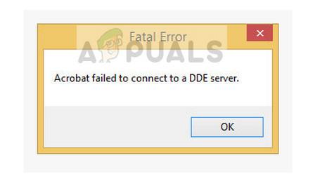 Schwerwiegender Fehler: Acrobat konnte keine Verbindung zu einem DDE-Server herstellen
