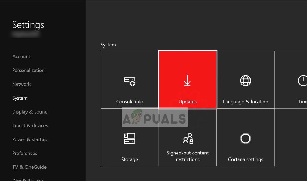 Updates - Xbox One-Einstellungen