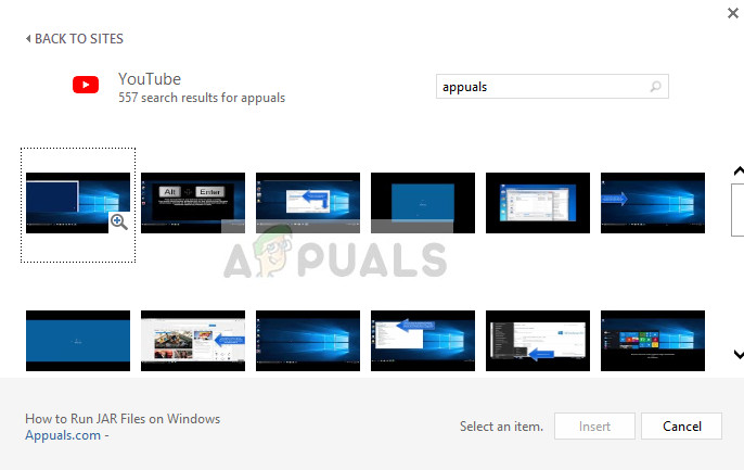 Suche nach Youtube-Videos in PowerPoint