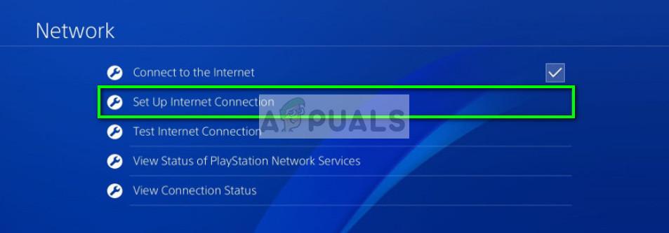 Einrichten der Internetverbindung in der PS4-Konsole