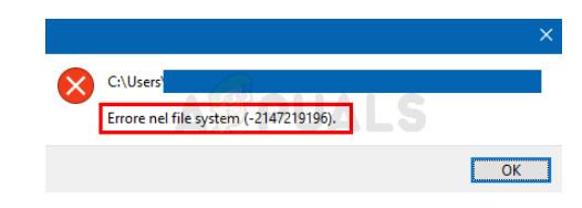 Photos File System Error in Windows 10