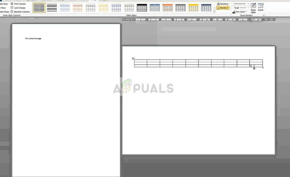 Landscape and Portrait on same Word document