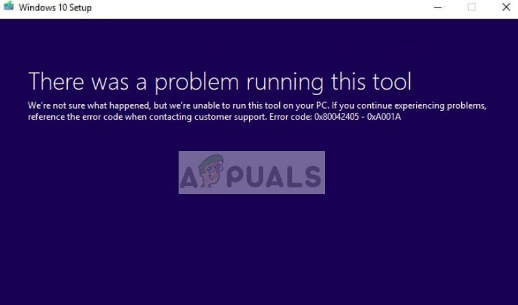 Fehlercode 0x80042405-0xa001a des Media Creation Tool in Windows 10