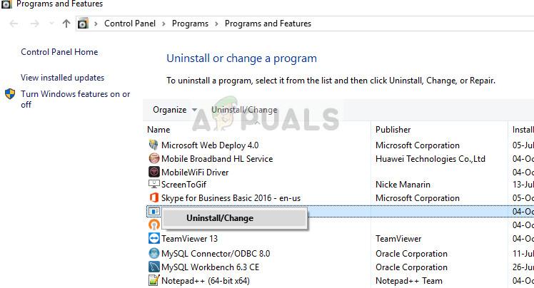 Uninstalling Quicken - Windows 10