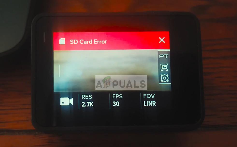GoPro SD Card Error