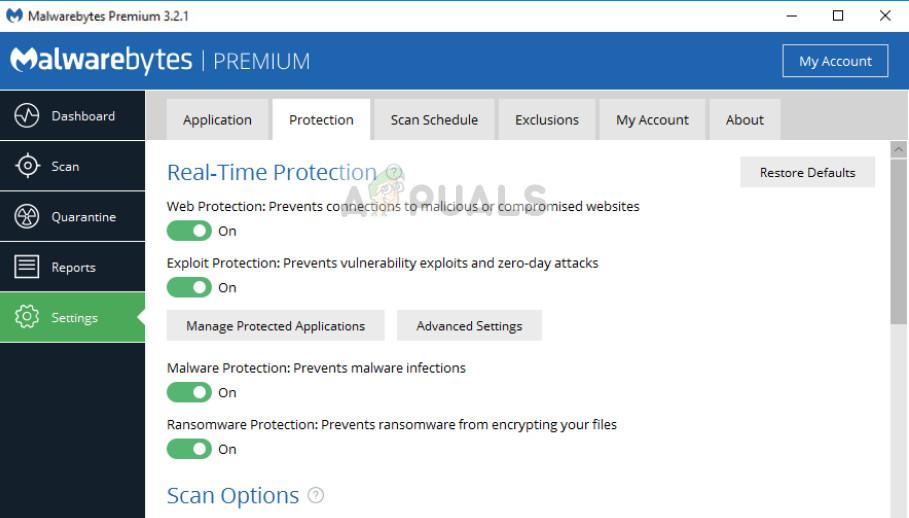 Deaktivieren der Antivirensoftware unter Windows 10