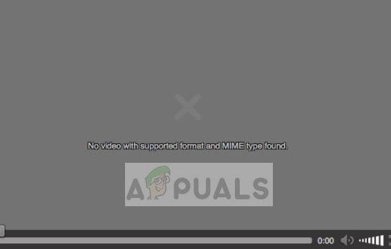 Kein Video mit unterstütztem Format und MIME-Typ gefunden - Mozilla Firefox