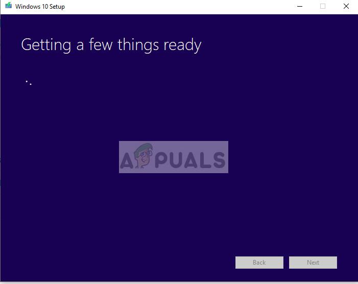Initialisieren des Tools zur Medienerstellung in Windows 10