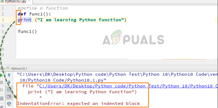 Indentation Error Python while coding