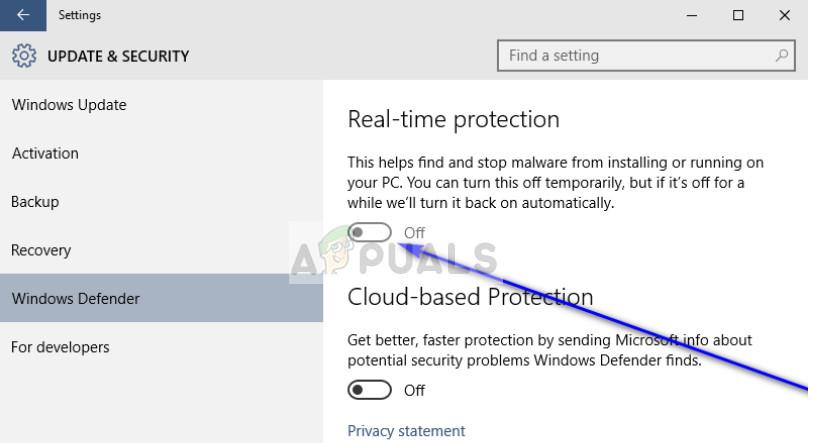 Disabling Windows Defender in Windows 10