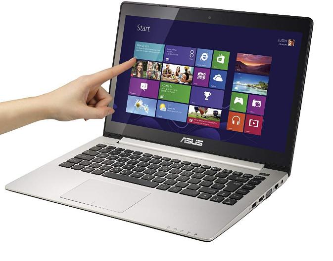 Touchscreen laptop running Windows 10