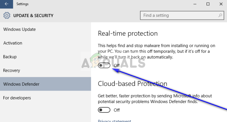 Disabling Windows Defender - Windows 10