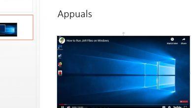 Video embedded in PowerPoint in Windows 10