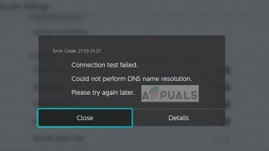 Nintendo Switch Error Code 2110-3127