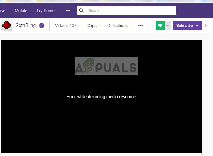 3000 Dekodierungsfehler für Medienressourcen in Twitch