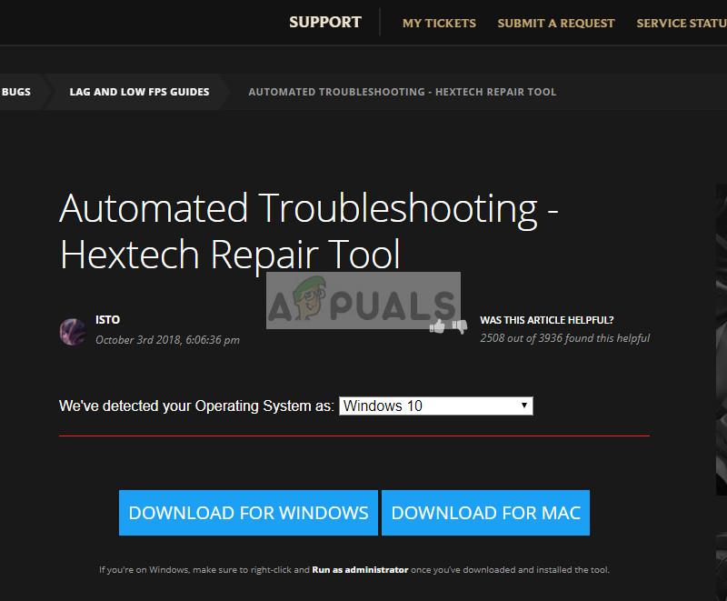 Hextech Repair Tool official website