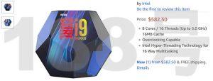 Intel 9900K packing