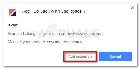 Confirm the installation of Go back with Backspace