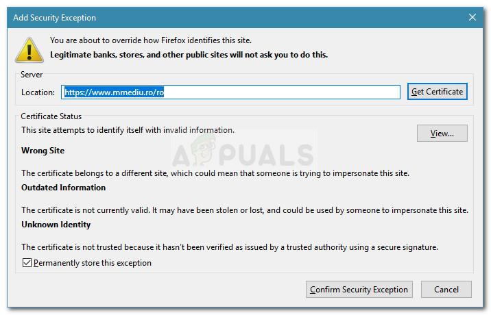 SSL certificate problems
