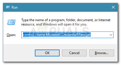 Run dialog: control /name Microsoft.CredentialManager