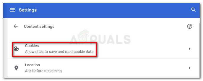 """Inhaltseinstellungen> Cookies"""" width=""""687″ height=""""274″ srcset=""""https://cdn.appuals.com/wp-content/uploads/2018/10/cookies.jpg 687w, https://cdn.appuals.com/wp-content/uploads/2018/10/cookies-150×60.jpg 150w, https://cdn.appuals.com/wp-content/uploads/2018/10/cookies-300×120.jpg 300w"""" sizes=""""(max-width: 687px) 100vw, 687px""""/><figcaption id="""