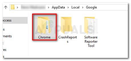 Delete the Chrome folder