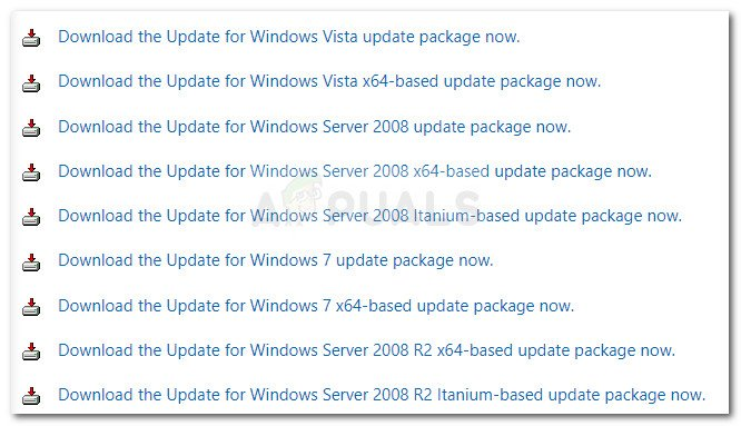 Downloading the parsing Windows Update