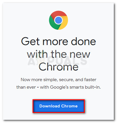 Download the latest version of Chrome