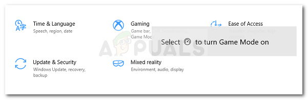 How To Disable Game Mode Notifications On Windows 10 Appuals Com