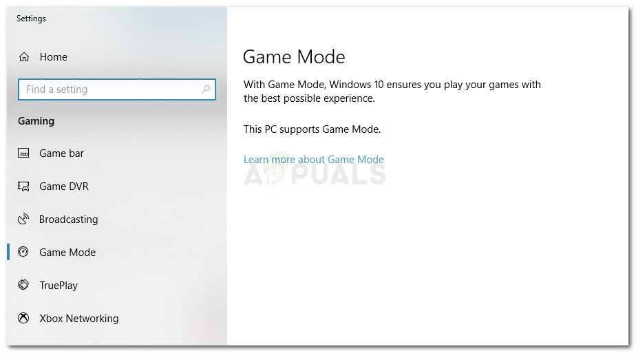 Game Mode notifications can't be disabled from the Settings menu