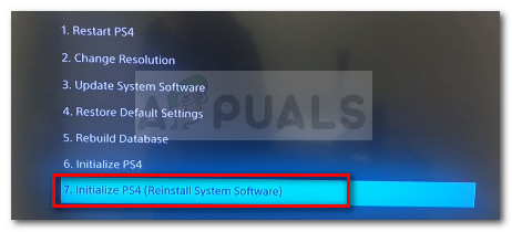 Initialize and restart Ps4 & reinstall software update