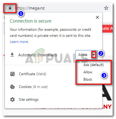Mega.nz changing the default download behaviour
