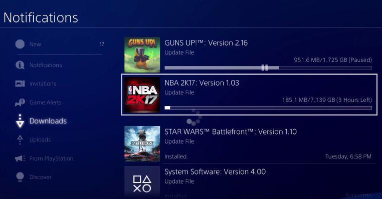 Installation des neuesten Updates des Spiels